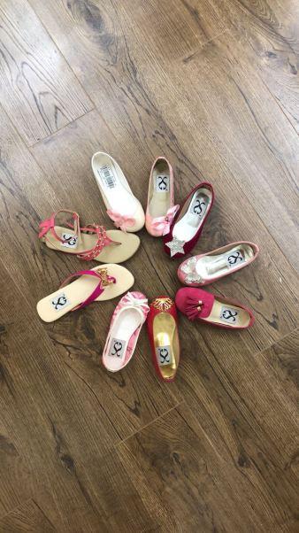Samia Azmay designer shoes for little girls karachi