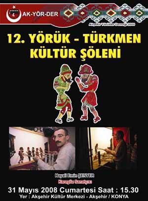 12. Akşehir Yörük Türkmen Şöleni Karagöz afişi