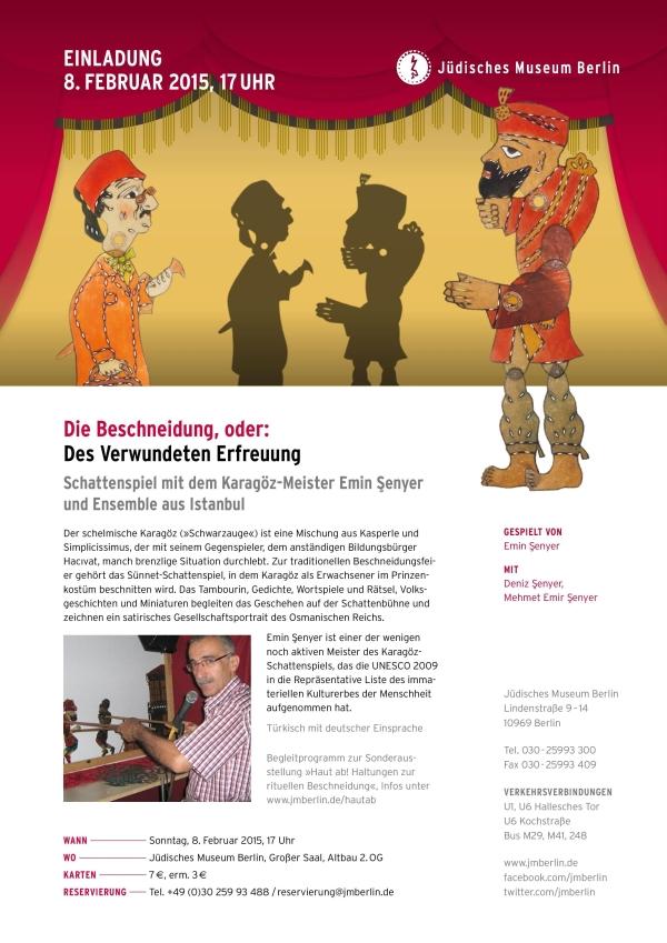 Berlin Judisches Museum Karagöz gösterisi