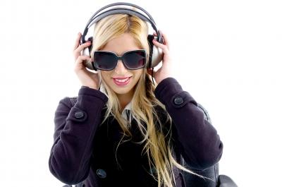 Young Lady enjoying music