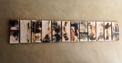 Wall mounted board. Issalos studios. Thassos. Sagar. 220 x 45 cm.