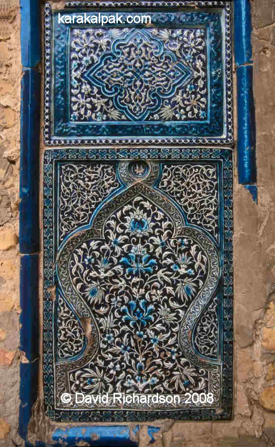 Glazed tilework panel