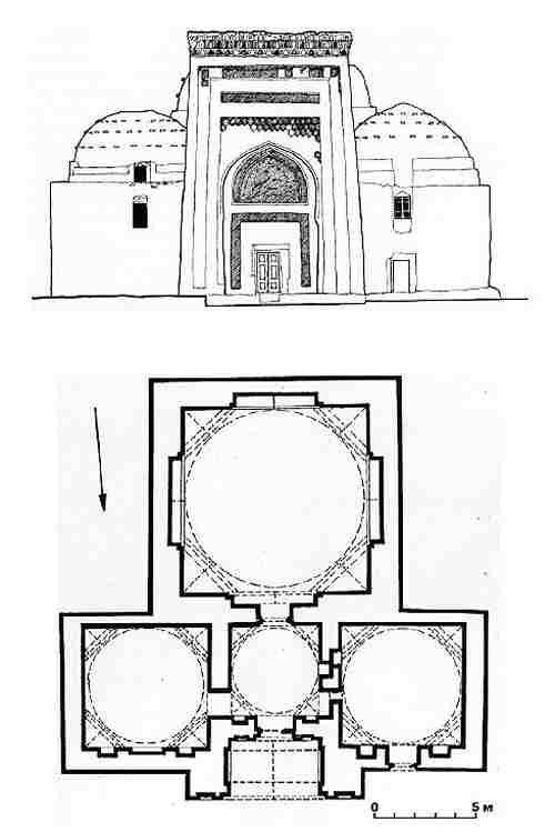 Drawing of the Najm al-Din Mausoleum
