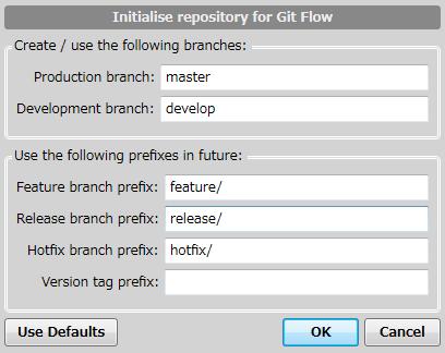 Git Flow Version Tag Prefix