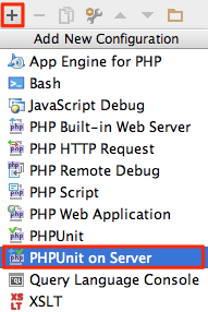 phpunit-on-server-add-run-config