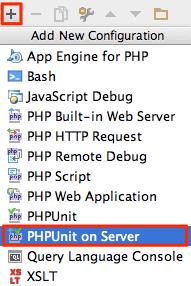 phpunit-on-server-add-run-config