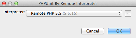 PHPUnit PHP Remote Interpreterを選択