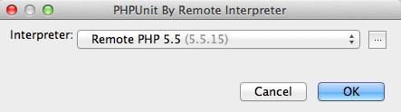 PHPUnit PHP Remote Interpreterを選択