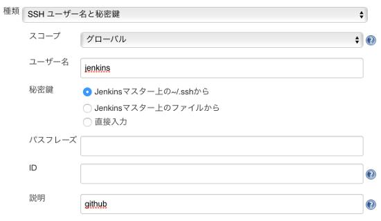 Jenkins2 github認証の追加