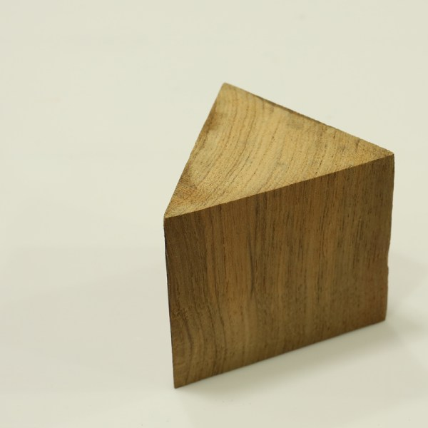 Handcrafted WOOD Triangular PRISM(Triangle), Home, Garden, Pot, Decor, Jewellery Display Stand, TEAK, 70-160-mm or 3-6-inch Width