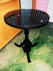 Handcrafted METAL Round Table(Circle), Circular Table, Home, Working, Living or Dining Room, 800-mm or 31-1/2-inches, Real Auto Parts