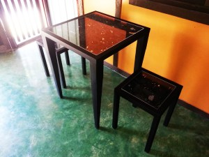 Handcrafted METAL Rectangular Table(Modern), Home, Office, Working, Living or Dining Room, 800-mm or 31-1/2-inches, Real Auto Parts