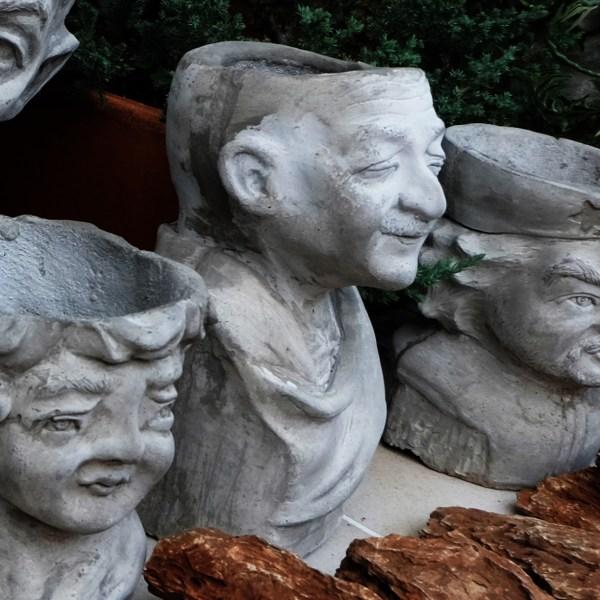 Handcrafted Cement Mahatma Gandhi Planter(Gandhi Plant Pot), House, Office, Garden Plant Pot, Unique Pot, Container, 500-mm, 20-inches(H)