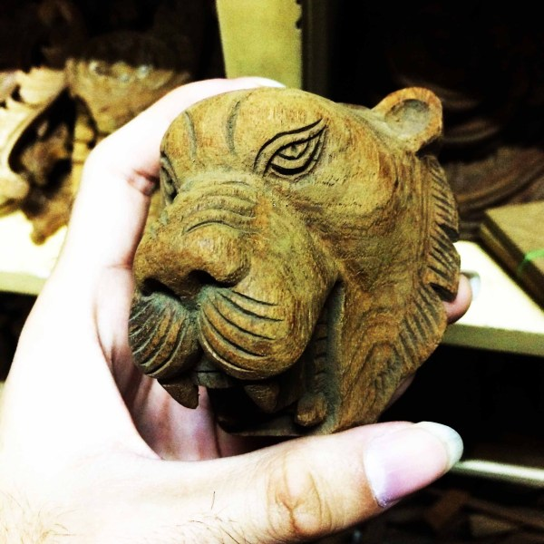Handcrafted WOOD JAGUAR Sculpture, House, Office, Bedhead, Figure, Art, Home Decor, 100-mm or 4-inches(Width)