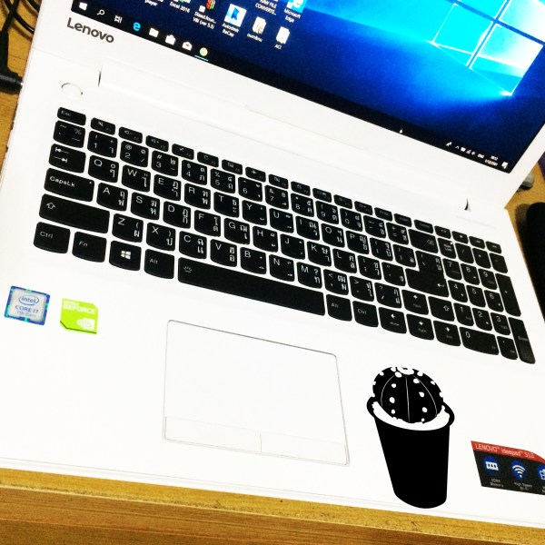 Handcrafted Cactus Sticker Vinyl Decal(Modern Label), Car, Skateboard, Desktop, Laptop, Luggage, Home, Working, Party, 70-mm or 3-inch Width