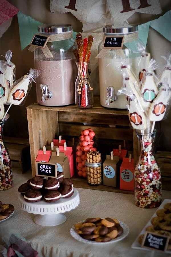 Kara S Party Ideas Cookies And Milk Vintage Shabby Chic
