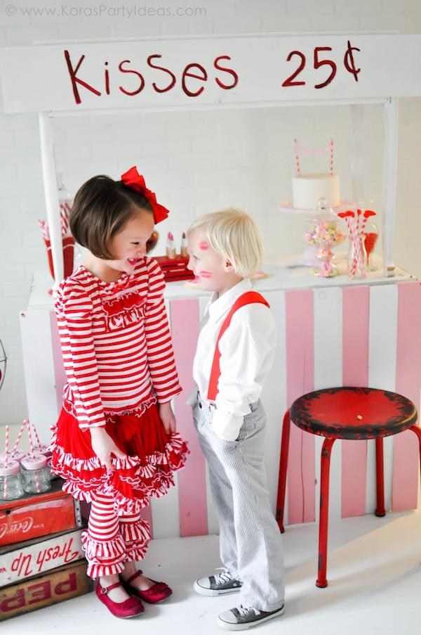 Karas Party Ideas Valentines Kissing Booth Party Via