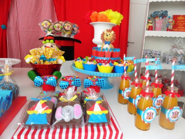 Circus Theme 1st Birthday Party Girl