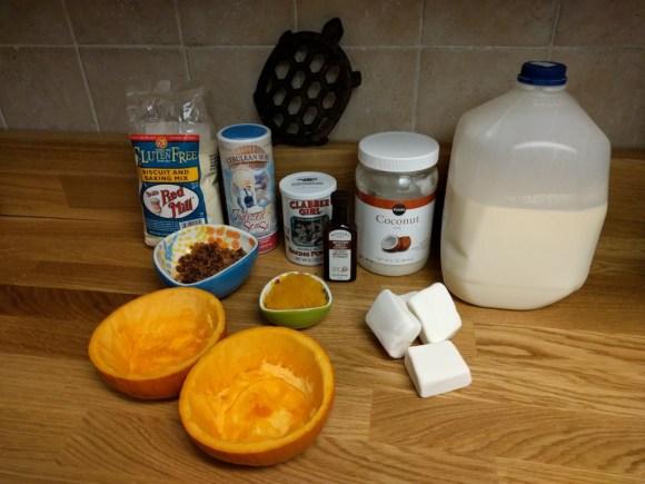 ingredients for pumpkin cake