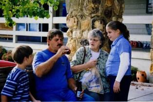 Adam, Dad, Grandma, and Kara in Helen, GA