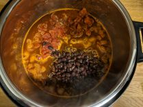 Chili ingredients in instant pot