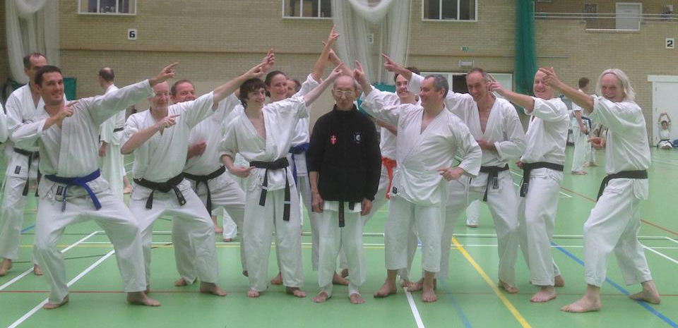 Members of the club at a course with sensei