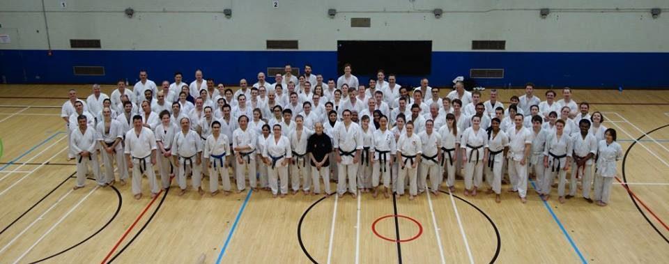 Karate ka attending a course