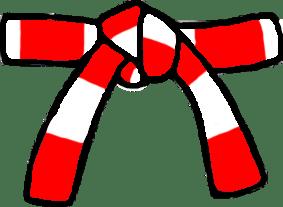 Cinturon Blanco/Rojo