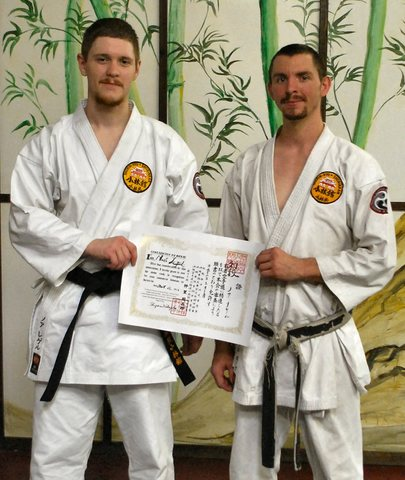 My Sensei and I after my shodan test