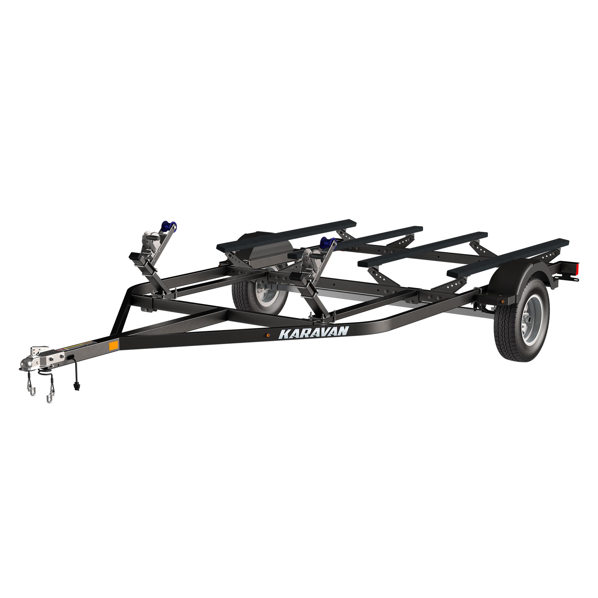 Double Watercraft Steel Trailer W Step Fender