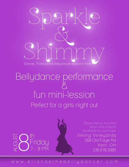 Sparkle & Shimmy Bellydance Flyer Minimalist Project