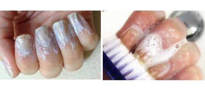 طريقة إزالة الصبغة السوداء من الأظافر