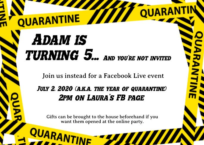quarantine birthday party invitation none of you are invited instant download template