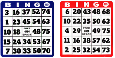 Bingo Hard Cards Choose From Regular And Easy ReadJumbo