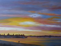Last Light Rockingham Foreshore - Acrylic on Canvas - 76 x 102cms