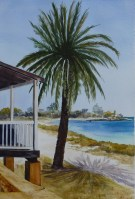 Rotto Under the Midday Sun - Watercolour - 39 x 27 cms