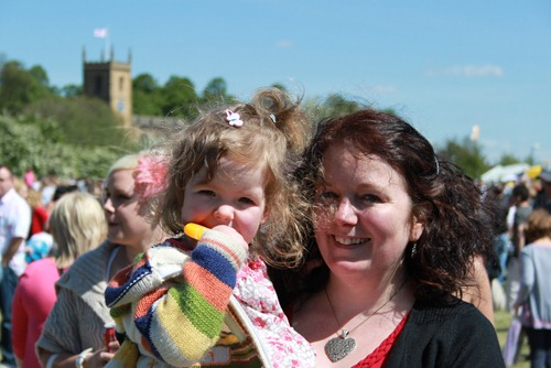 Karen Bruce and Esme at Rothwell May Day fair 2011