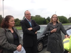 Cllr Karen Bruce with members of Leeds and Wakefield Road Residents Action group