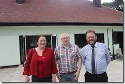 Karen Bruce and David Nagle at Rothwell Springhead Park cafe