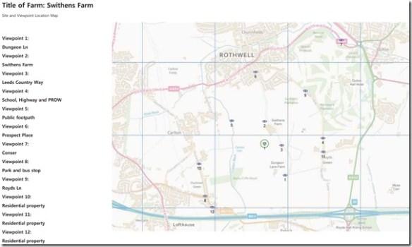 Swithens Farm wind turbines map