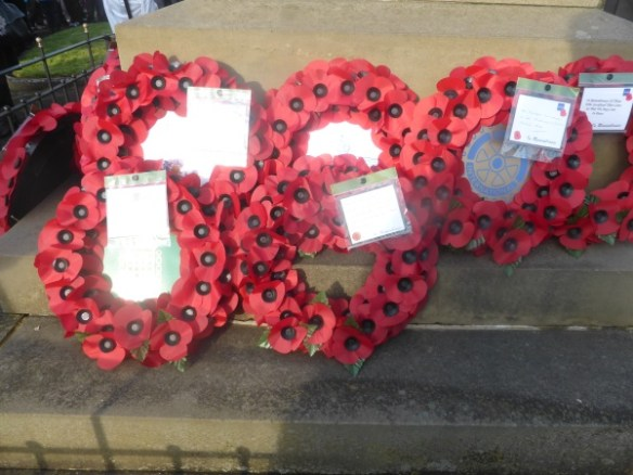 Remembrance Day wreath from Cllr Karen Bruce and Cllr David Nagle and Rothwell Labour Party