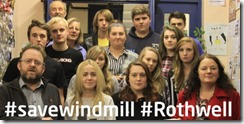 Cllrs Karen Bruce and David Nagle with young people at Windmill Youth Club Rothwell