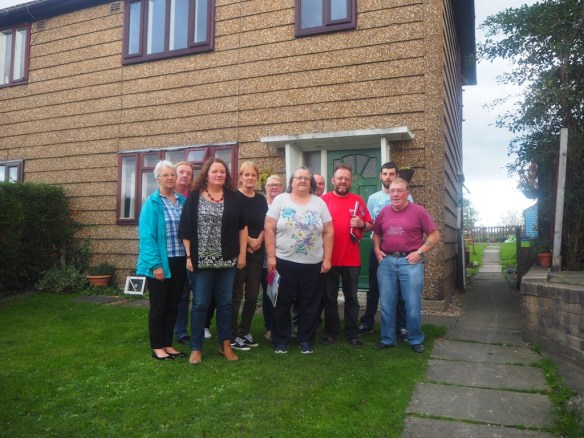 Photo of residents of Sugar Hill Close and Wordsworth Drive with Cllr Karen Bruce and Cllr David Nagle