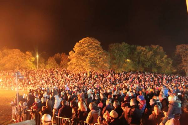 Rothwell Springhead Park bonfire photo