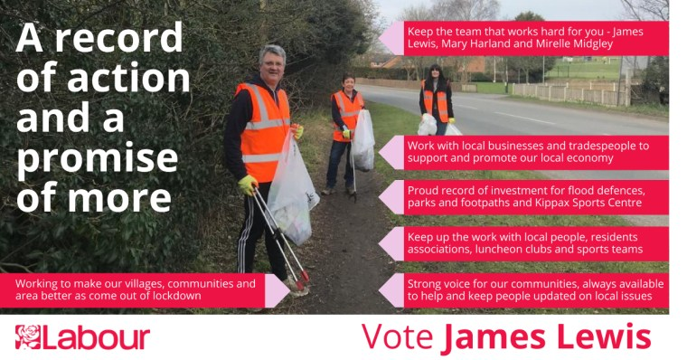 Vote James Lewis for Kippax and Methley