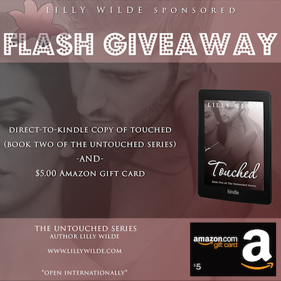 Touched Ebook Giveaway and 5 dollars