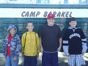 Spence and some buddies getting ready to board the bus