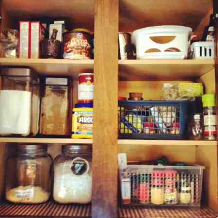 Kitchen baking cupboard