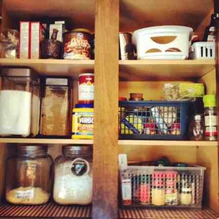 Kitchen baking cupboard