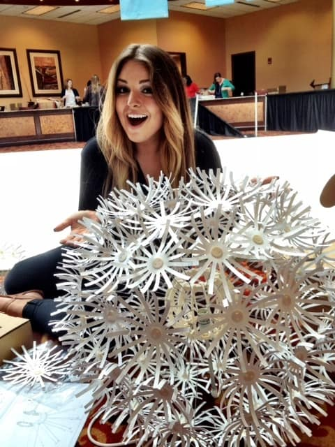 Setting up the hotel. I was on decorations committee with the lovely Paige from our staff. I can't believe I put one of the daisy ball things together from Ikea. I just prayed all weekend that the one I did din't fall onto an attendee.